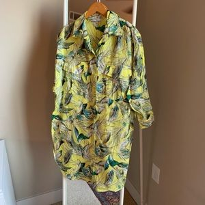 EUC Zara tropical shirt dress